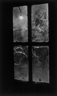 Window, Castle Frankenstein (b/w photo)