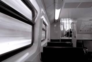 inside a train window
